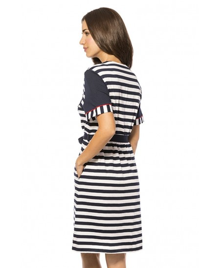 Stripes Dressing Gown