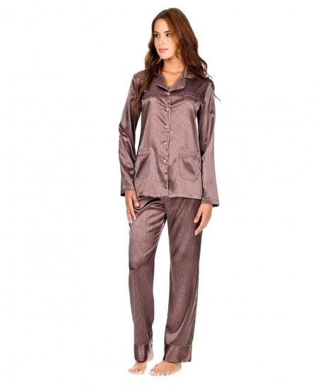 Pijama Largo Rayas Raso