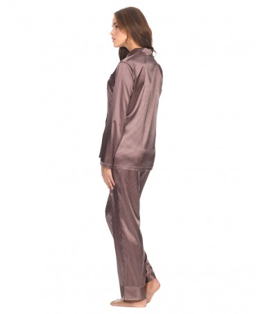 Satin Stripes Pyjama Set