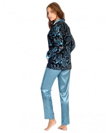Pijama Largo Devorado Flores