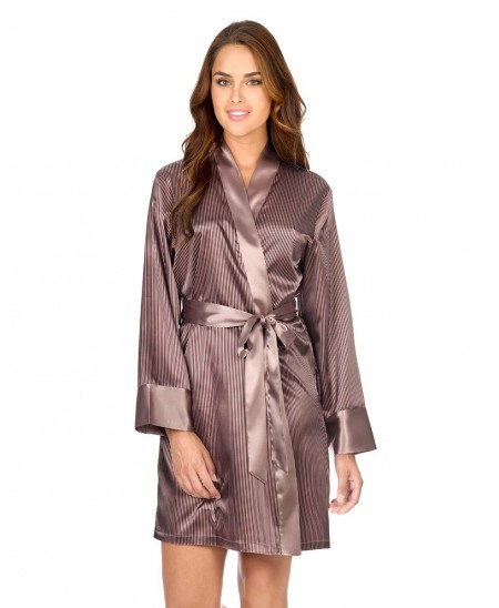 Satin Stripes Dressing Gown