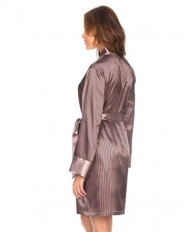 Satin Stripes Dressing Gown