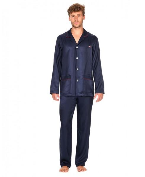 Satin Pyjama Set with piping adorment