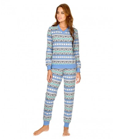 Print pattern cotton pyjama set