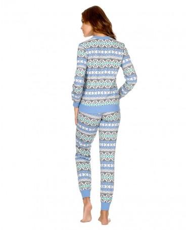 Pijama Largo Punto Cenefas