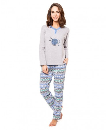 Ball of wool print pyjama set