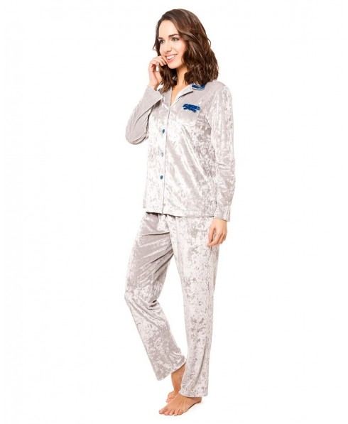 Pijama Largo Terciopelo Arrugado