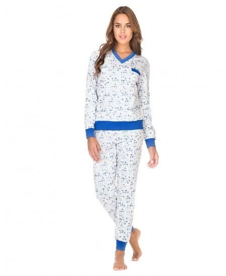 Pijama Largo Garabatos Cuello