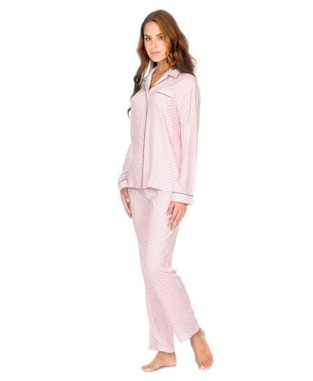 Pijama Largo Abierto Corazones
