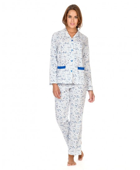 Scrawl print with buttons pyjama set