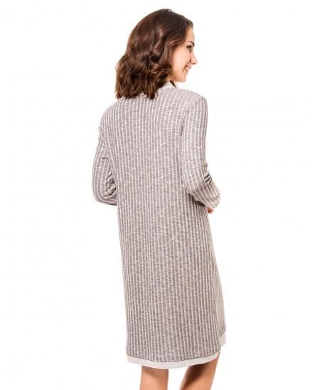 Melange rib grey nightdress