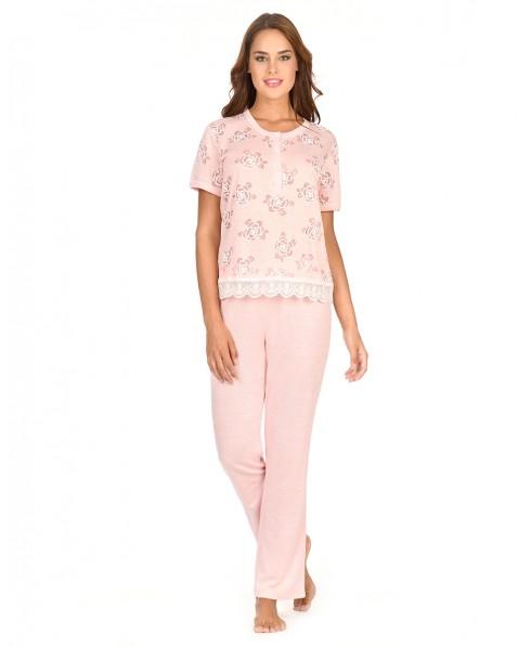 Pijama Largo Flores