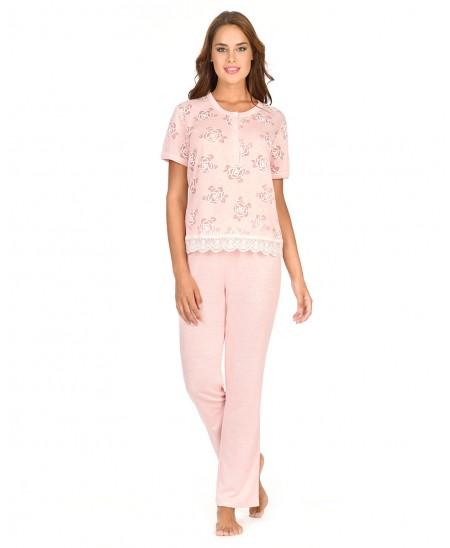 Flowers Printed Pyjama Set Long Pant