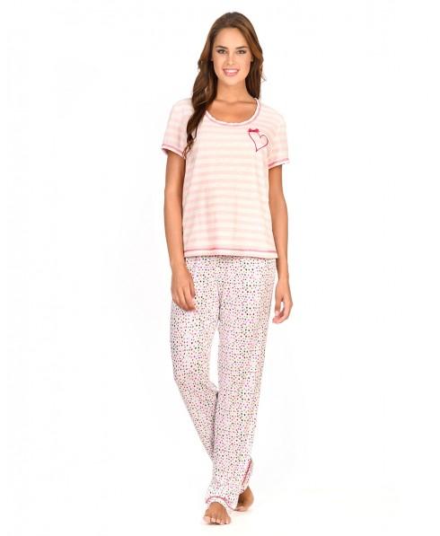 Pijama Largo Manchas Rayas