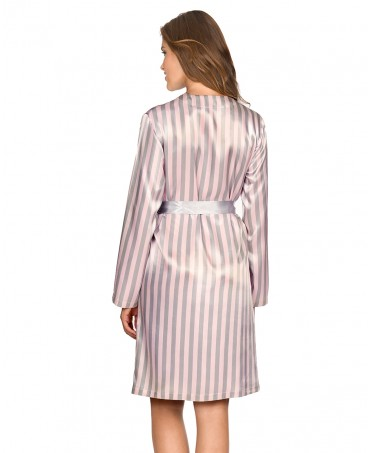 Striped Satin Dressing Gown