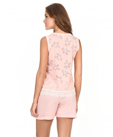 Pijama Corto Flores