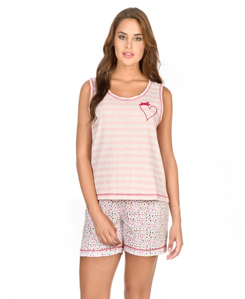 Striped Top Pyjama & Dots Pants