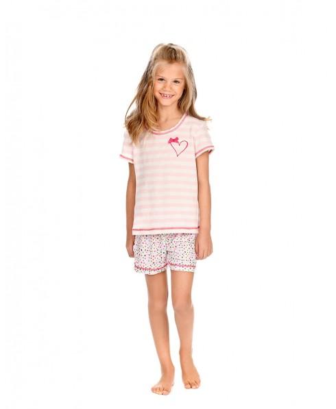 Kids Striped Top Pyjama & Dots Pants