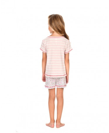 Kids Striped Top Pyjama & Dots Pants