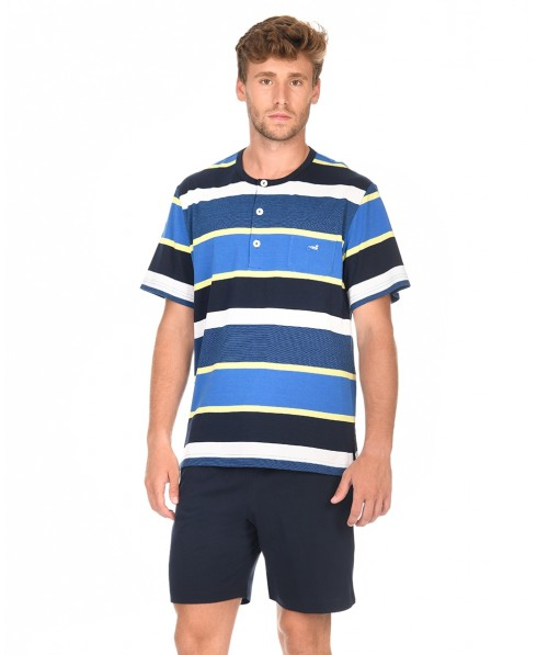 Man Striped Pyjama Set