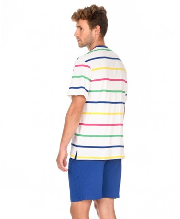 Man Striped Pyjama Set