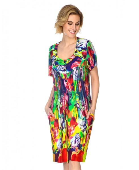 Vestido Abierto Flores