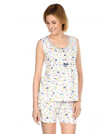 Flowers Printed Pyjama Set