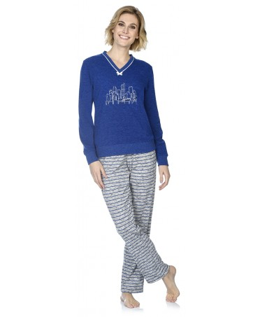 Skyline embroidery pyjama set