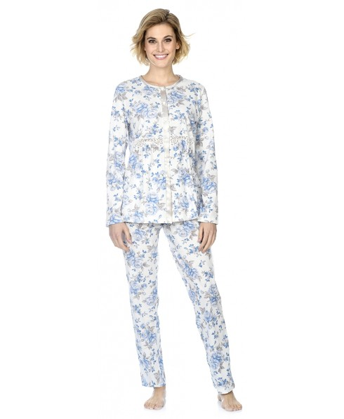 Flowers print with lace pyjama set