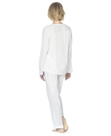 Pijama largo de mujer Lohe lencero lorzas M/L