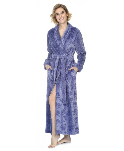 Flowers Purple melange dressinge gown