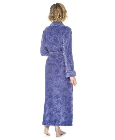 Flowers Purple melange dressinge gown