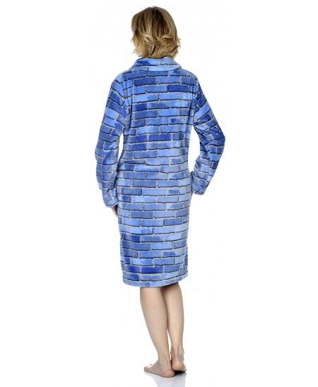 Brick print dressing gown