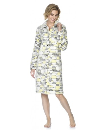 Stones print dressing gown