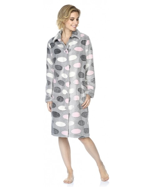 Oval print dressing gown