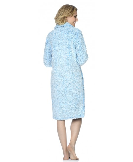 Sherpa dressing gown with buttons