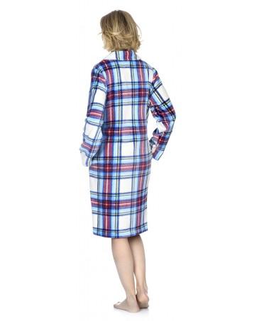 Bata larga de mujer Lohe flannel escocesa