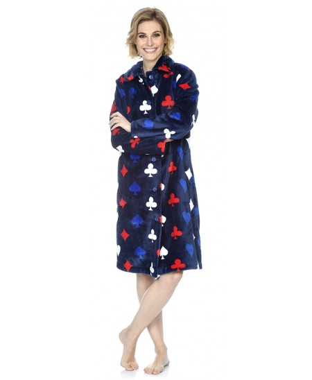 Print dressing gown