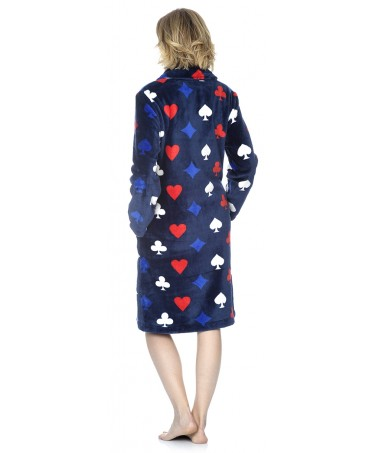 Bata larga de mujer Lohe flannel baraja