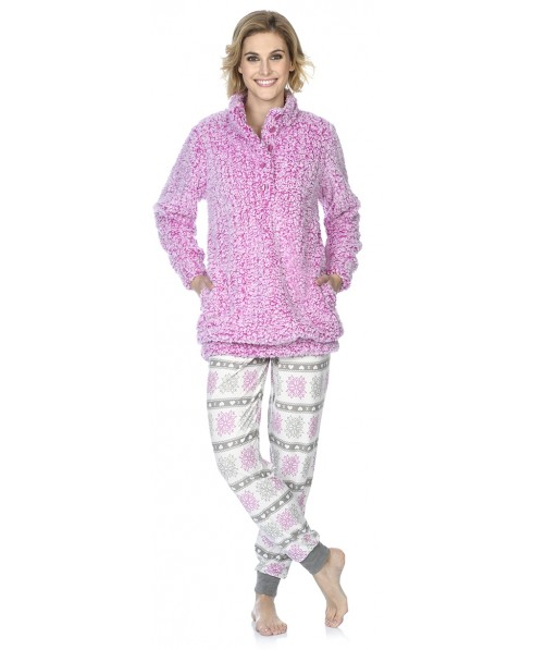Sherpa short dressing gown