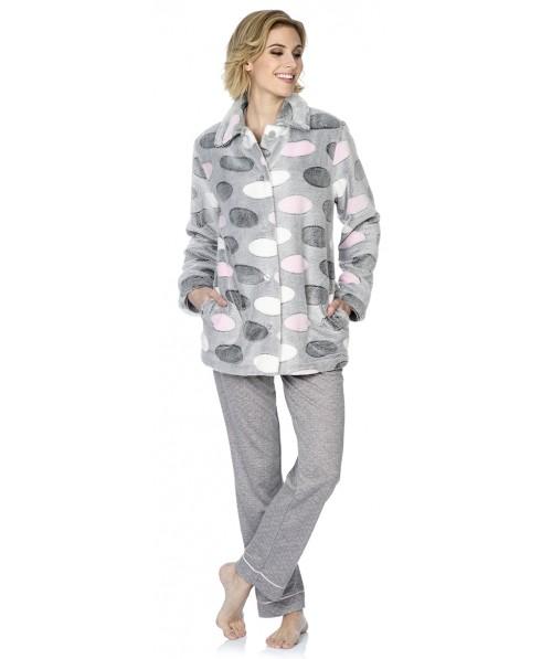 Bata Corta de mujer Lohe flannel ovalos