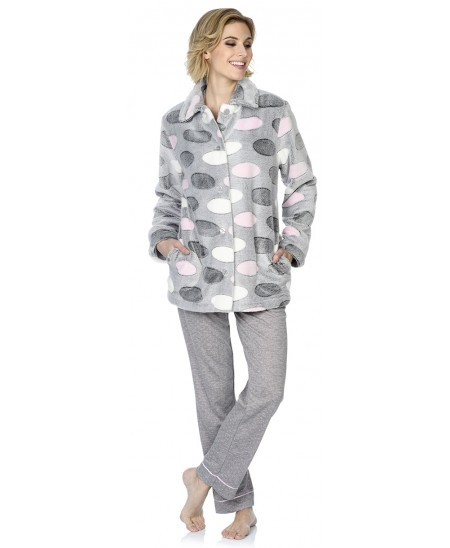 Oval print  short dressing gown