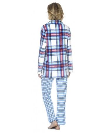 Bata Corta de mujer Lohe flannel escocesa