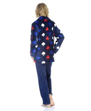 Bata Corta de mujer Lohe flannel baraja