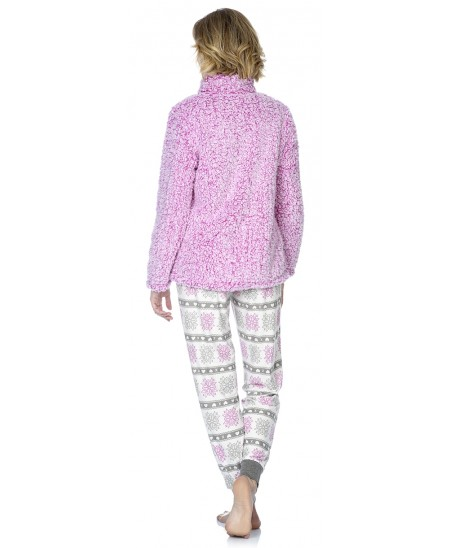 Sherpa short dressing gown and Snow star print pyjama set