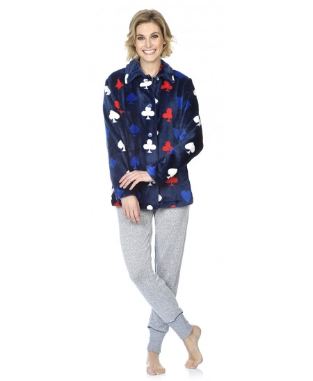 Print short dressing gown and Dream embroidery pyjama set