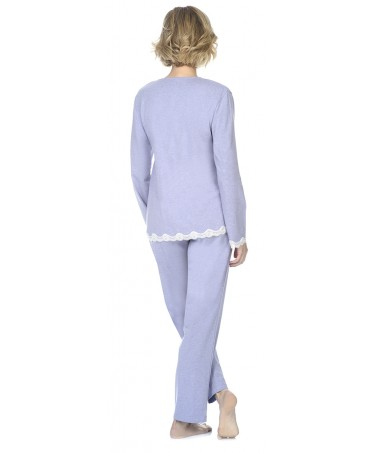 Rib pyjama set  with lace