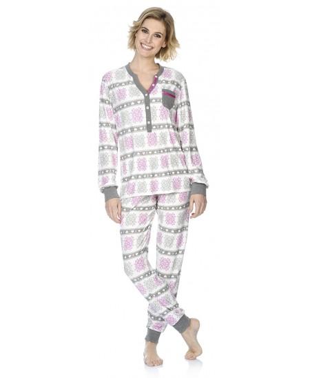 Snow star print pyjama set