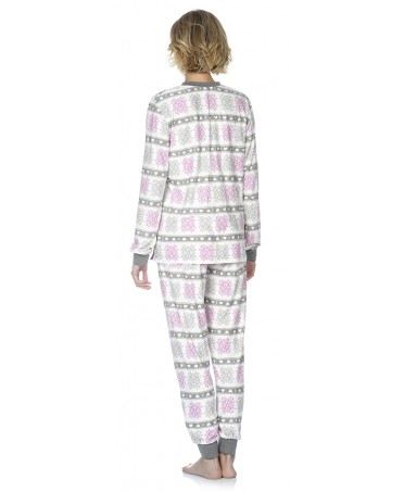 Snow star print pyjama set