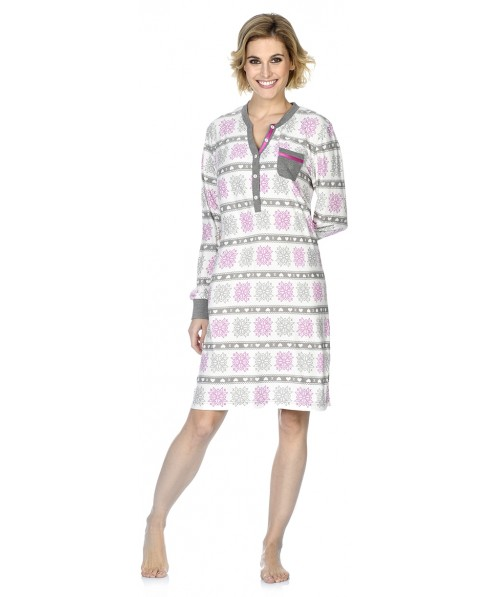 Snow star print nightdress